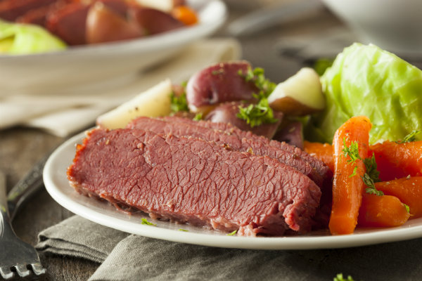 Corned beef and cabbage is a favorite at Irish pubs and restaurants